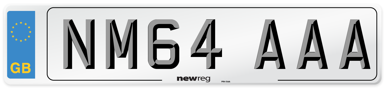 NM64 AAA Number Plate from New Reg